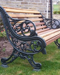 Cast Iron and Timber Benches